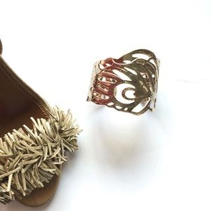 {Kendra Scott} Salome Feather Gold Cuff